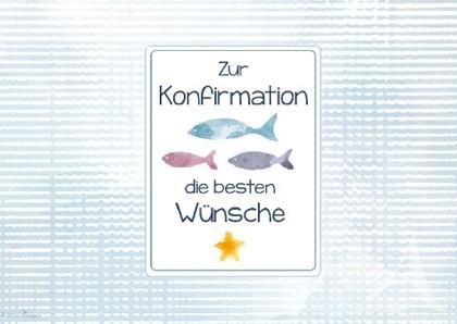 """Doppelkarte """"Zur Konfirmation die besten Wünsche"""""""