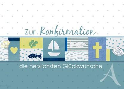 """Doppelkarte """"Zur Konfirmation die herzlichsten Glückwünsche"""""""