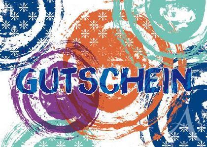 """Doppelkarte """"Gutschein"""""""