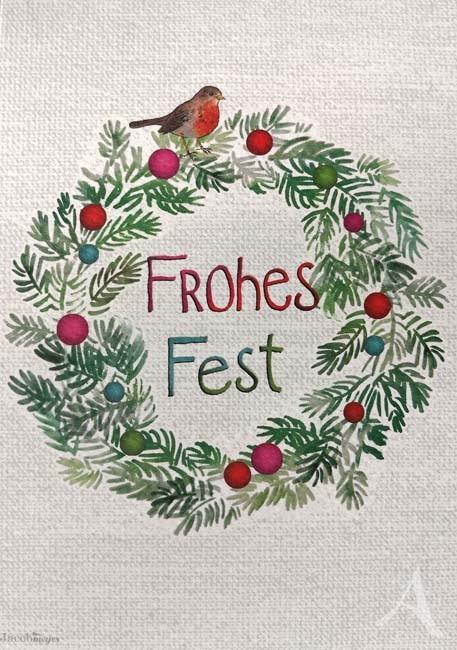 "Doppelkarte ""Frohes Fest"""