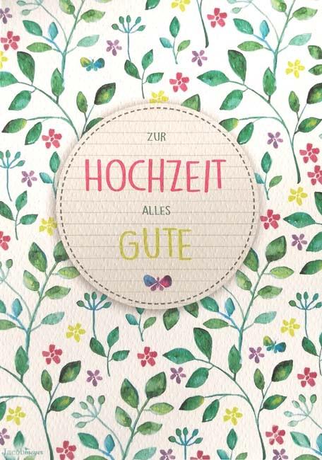 """Doppelkarte """"Zur Hochzeit alles Gute"""""""