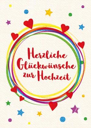 """Doppelkarte """"Herzliche Glückwünsche zur Hochzeit"""""""