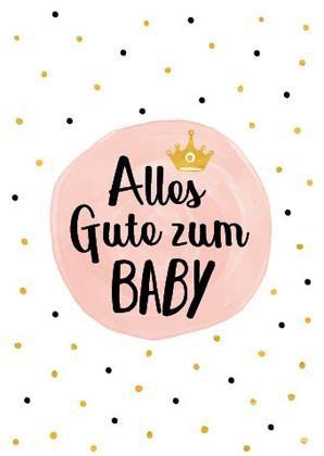 """Doppelkarte """"Alles Gute zum Baby"""" (Mädchen)"""