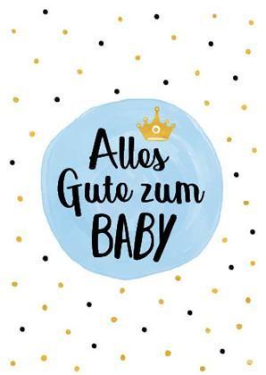 "Doppelkarte ""Alles Gute zum Baby"" (Junge)"