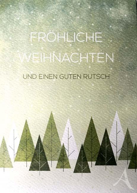 """Doppelkarte """"Fröhliche Weihnachten und einen guten Rutsch"""""""