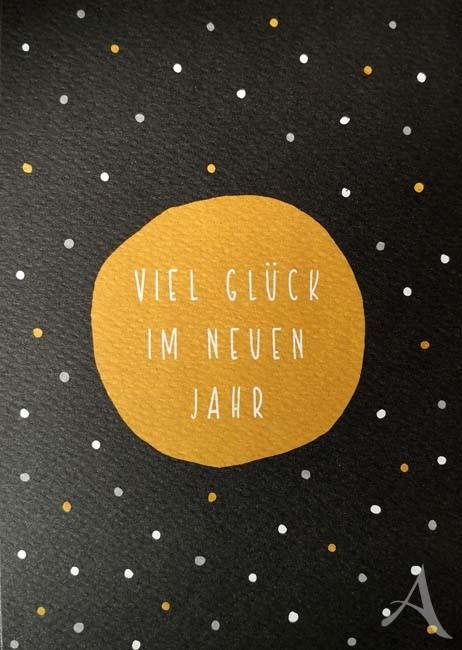 """Doppelkarte """"Viel Glück im neuen Jahr"""""""