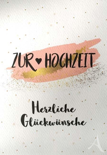 """Doppelkarte """"Zur Hochzeit - Herzliche Glückwünsche"""""""