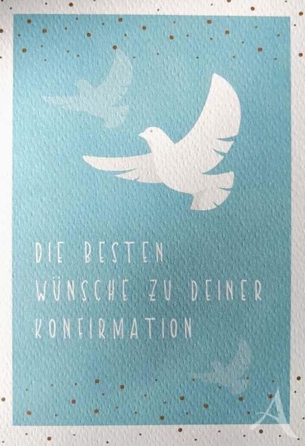 """Doppelkarte """"Die besten Wünsche zu deiner Konfirmation"""""""