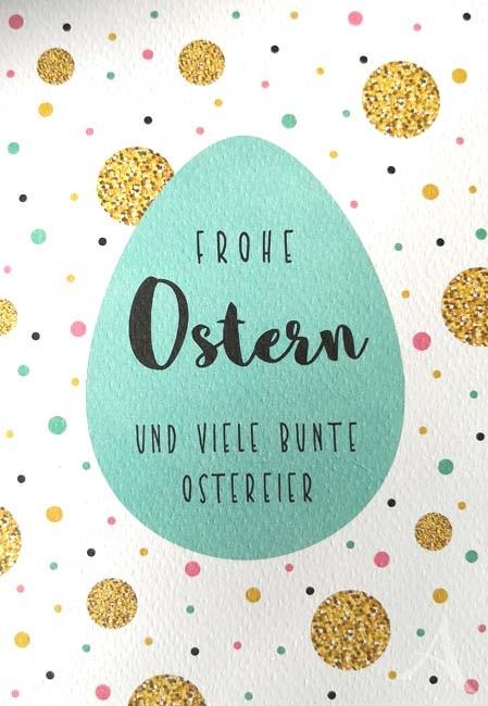 """Doppelkarte """"Frohe Ostern und viele bunte Ostereier"""""""