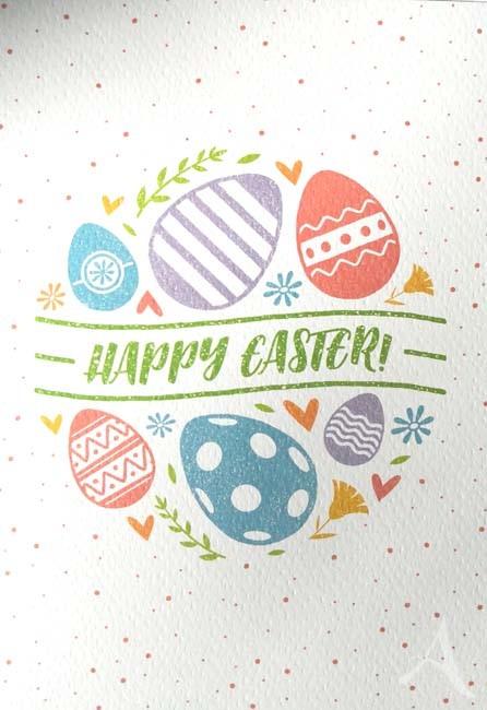 "Doppelkarte ""Happy Easter"""