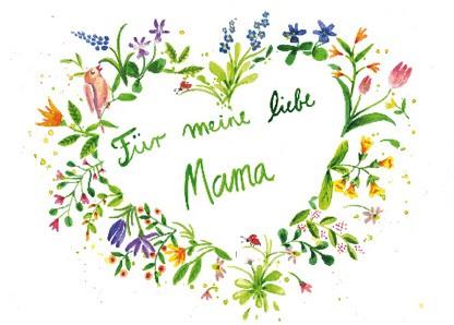 """Doppelkarte """"Für meine liebe Mama"""""""