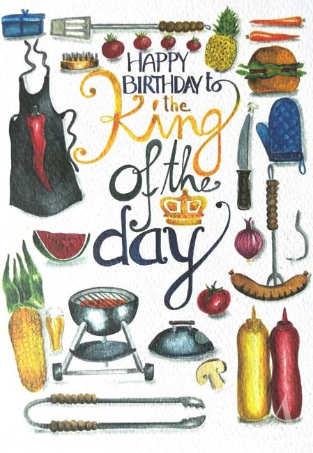 "Doppelkarte ""HAPPY BIRTHDAY to the KING of the Day"""