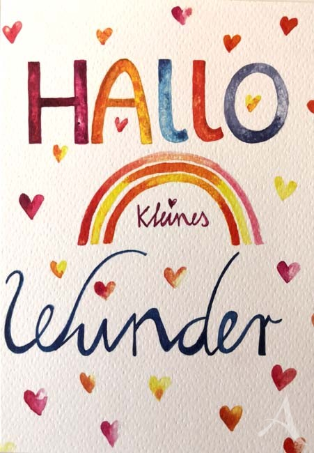 """Doppelkarte """"Hallo kleines Wunder"""""""
