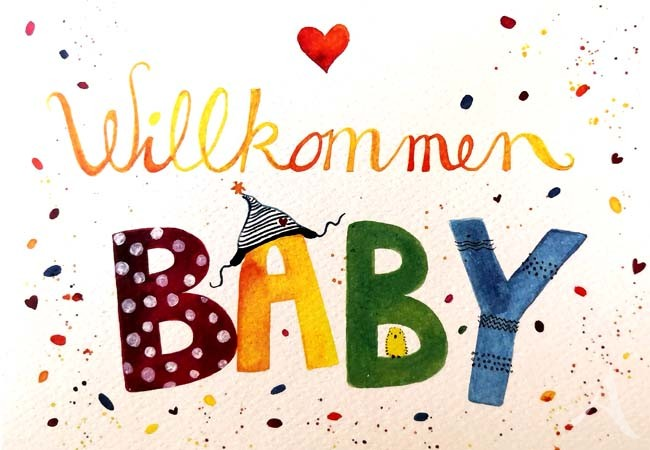"Doppelkarte ""Willkommen BABY"""