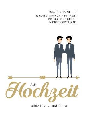 """Doppelkarte """"Zur Hochzeit alles Liebe und Gute"""""""