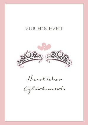 """Doppelkarte """"Zur Hochzeit - Herzlichen Glückwunsch"""""""