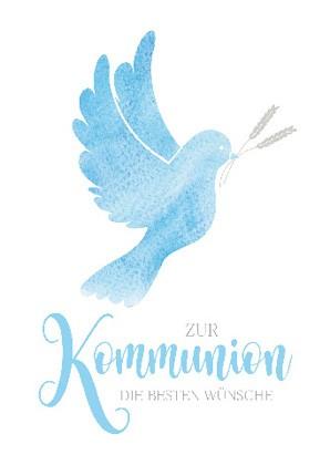 """Doppelkarte """"Zur Kommunion die besten Wünsche"""""""