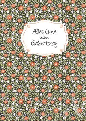 """Doppelkarte """"Alles Gute zum Geburtstag (rot-grün)"""""""