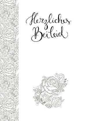 """Doppelkarte """"Herzliches Beileid"""""""