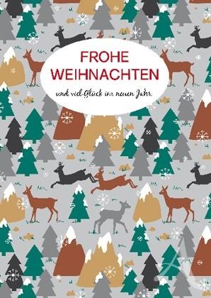 """Doppelkarte """"Frohe Weihnachten und viel Glück im neuen Jahr"""""""