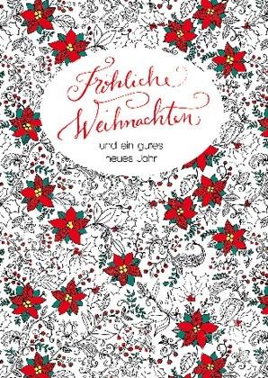 """Doppelkarte """"Fröhliche Weihnachten und ein gutes neues Jahr"""""""