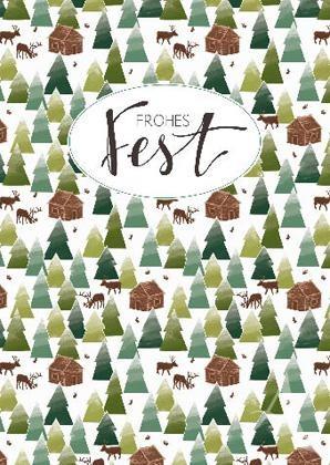 "Weihnachts- Doppelkarte ""Frohes Fest"""