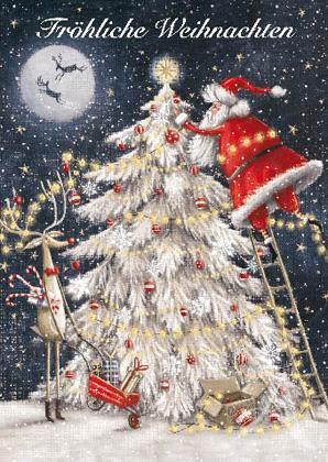"""Weihnachts- Doppelkarte """"Fröhliche Weihnachten"""""""