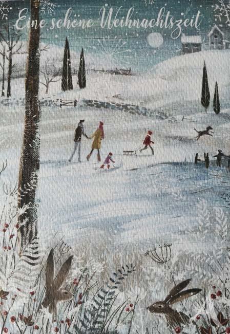 """Doppelkarte """"Eine schöne Weihnachtszeit"""""""