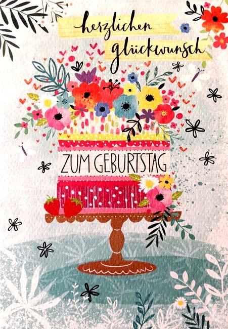 """Doppelkarte """"Herzlichen Glückwunsch zum Geburtstag"""""""