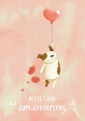 """Doppelkarte """"Alles Liebe zum Geburtstag"""""""