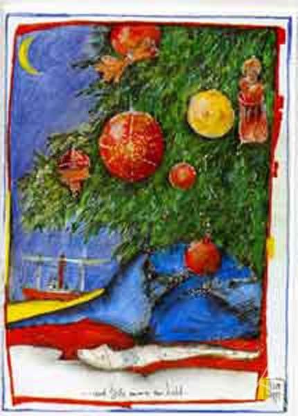 """Weihnachts- Doppelkarte """"...und bitte immer ein Licht"""""""