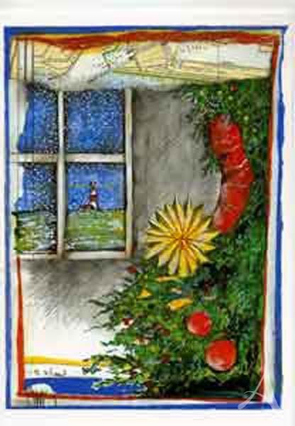 """Weihnachts- Doppelkarte """"...es schneit"""""""
