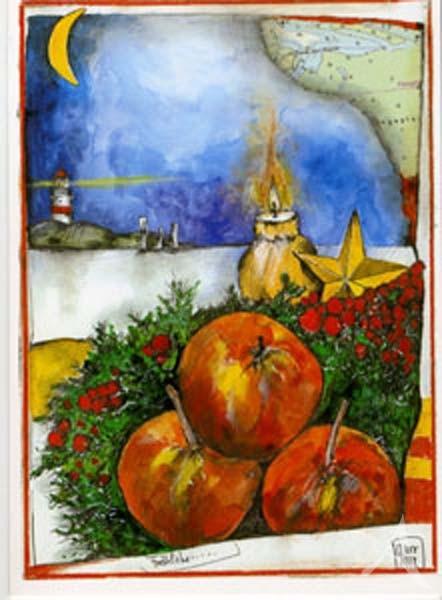 """Weihnachts- Doppelkarte """"Fröhliche..."""""""