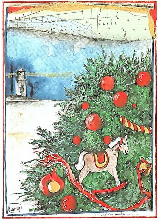 """Weihnachts- Doppelkarte """"...und so weiter..."""""""