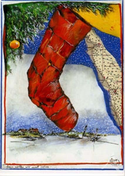 """Weihnachts- Doppelkarte """"...dann wollen wir mal sehen"""""""