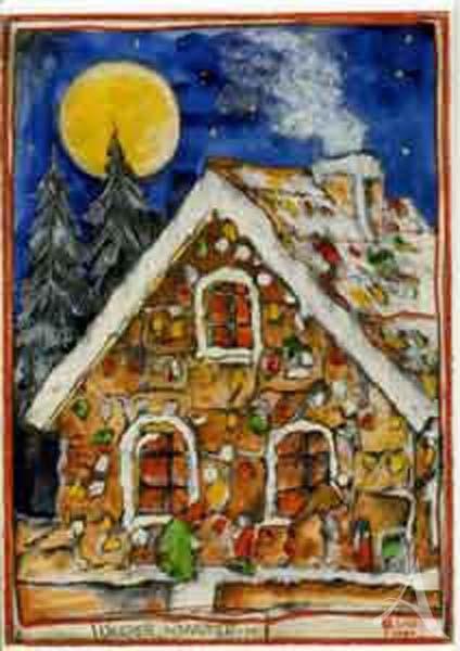 """Weihnachts- Doppelkarte """"Knusper, Knusper..."""""""
