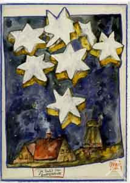 """Weihnachts- Doppelkarte """"Die Nacht der Zimtsterne"""""""