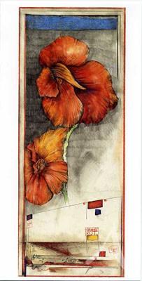 """Doppelkarte """"Orange-Rot"""""""