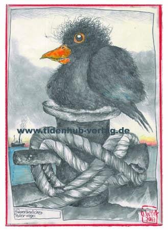 """DOPPELKARTE """"Hühnerähnlicher Pollervogel"""" von OLE WEST"""