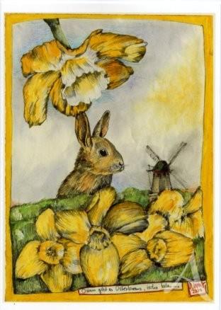 """Doppelkarte """"Ostern gibt es Osterkranz"""""""