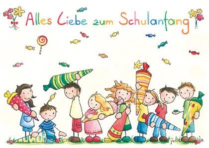 """Doppelkarte """"Alles Liebe zum Schulanfang"""""""