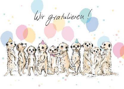 """Postkarte """"Wir gratulieren!"""""""