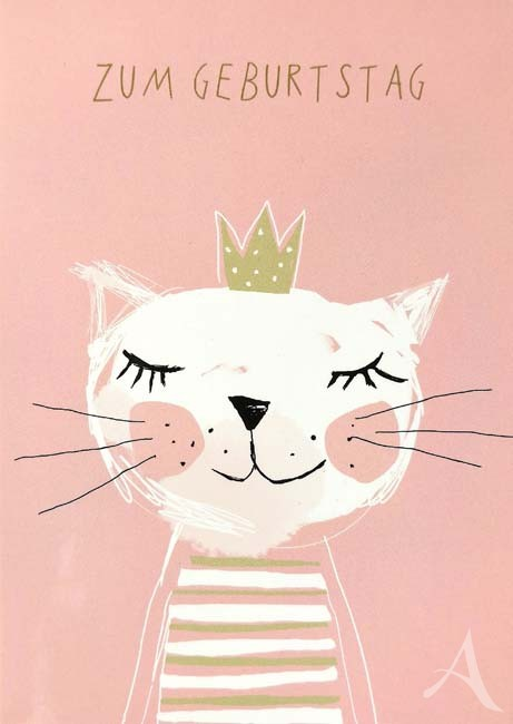 "Postkarte ""Zum Geburtstag"" - Katze"