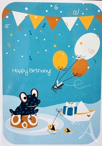 """Postkarte """"Happy Birthday!"""""""