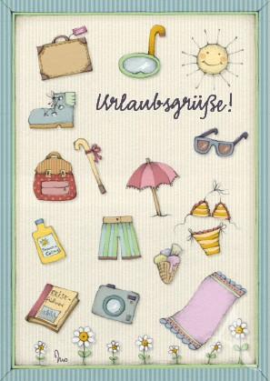"Postkarte ""Urlaubsgrüße"""