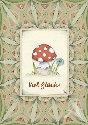 """Postkarte """"Viel Glück!"""""""