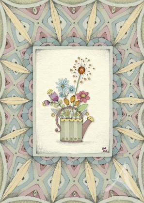 "Postkarte ""Gruß aus dem Garten"""