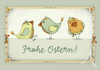 """Postkarte """"Frohe Ostern! (Vögel)"""""""