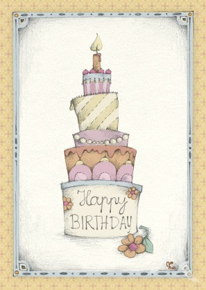 "Postkarte ""Happy Birthday"""