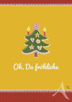 """Postkarte """"Oh, Du fröhliche"""""""